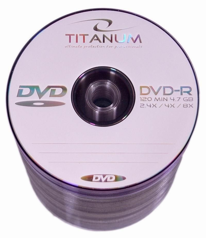 Esperanza DVD-R TITANUM [ spindle 100 | 4.7GB | 8x ]