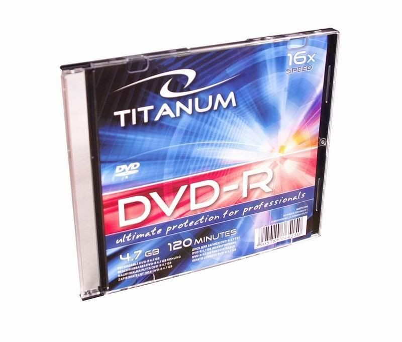 Titanum DVD-R TITANUM [ slim jewel case 1 | 4.7GB | 16x ]