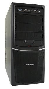 LC-Power OBUDOWA CASE-PRO-924B/BZ MIDITOWER FRONT 1X USB 3.0 1 X USB 2.0 HD-AUDIO CZARNA SIATKA