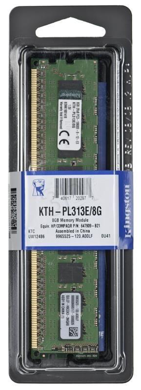 Kingston Pamięć Kingston 8GB 1333MHz ECC Moduł