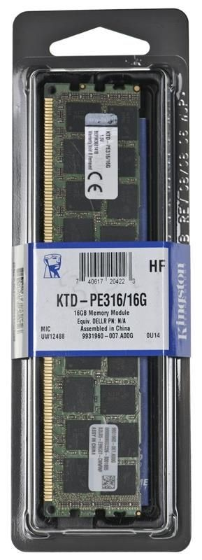 Kingston Pamięć Kingston 16GB 1600MHz Reg ECC Moduł