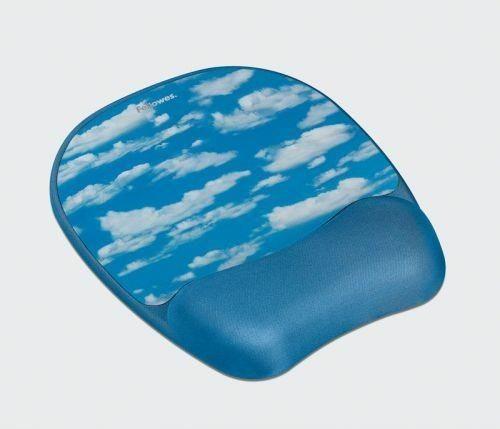 Fellowes podkładka żelowa pod mysz i nadgarstek Memory Foam, chmury
