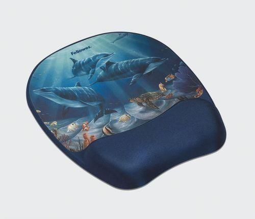 Fellowes podkładka żelowa pod mysz i nadgarstek Memory Foam, delfiny