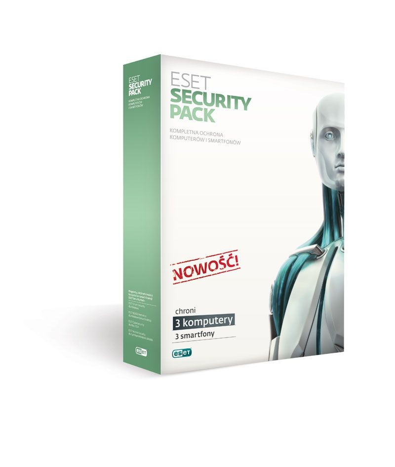 Eset SECURITY PACK BOX 3 STAN/12M +3 SMARTFONY/12M