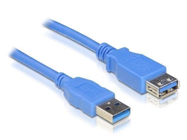 DeLOCK przedłużacz USB 3.0 AM-AF, 2m, blue