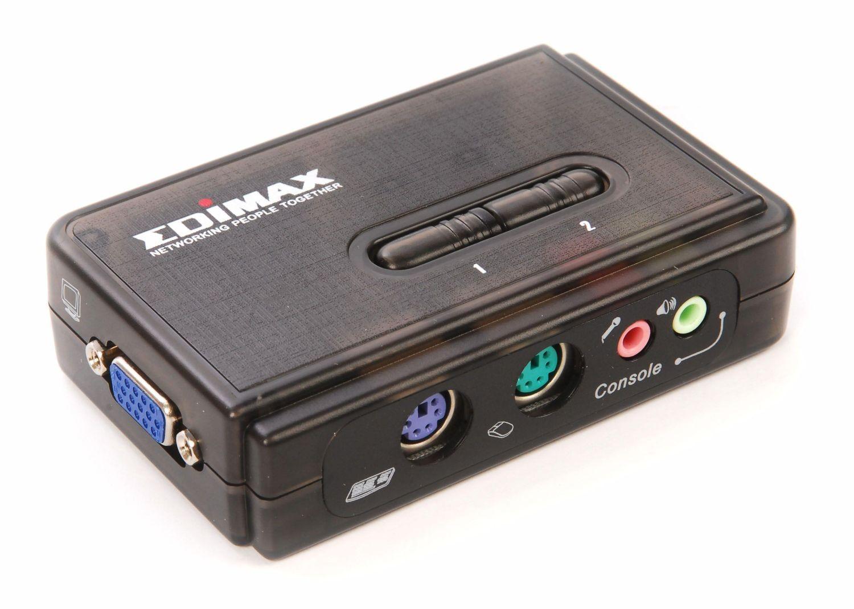 Edimax Switch KVM Edimax EK-PAK2 2xPS2 z kablami, audio i mic
