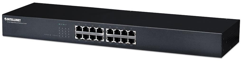 Intellinet Network Solutions Gigabit Switch 16x10/100/1000 rack 19'' Energy-Efficient Ethernet