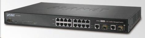 Planet VC-820M, VDSL2 switch, 8x VDSL2, 8x POTS, 2x 1000Base-T/SFP