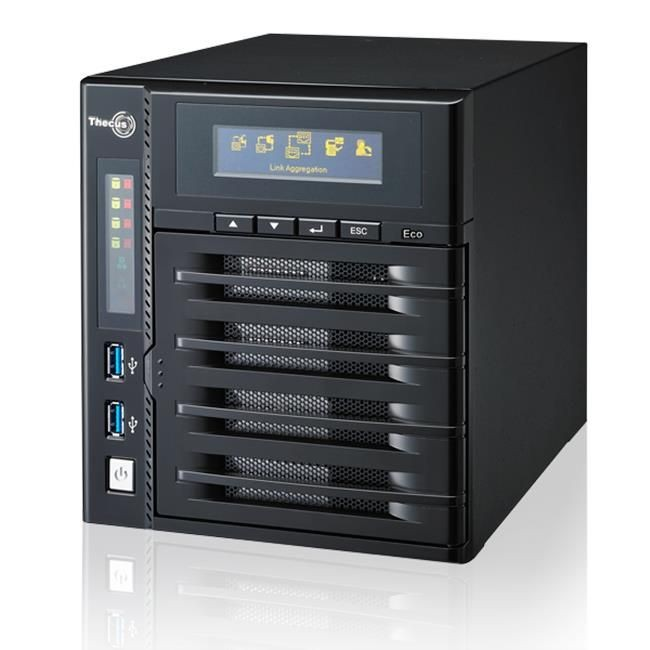 Thecus 4-Bay tower NAS, SATA, 2.13GHz Dual Core, 2GB DDR3, 2x GbE, USB 3.0