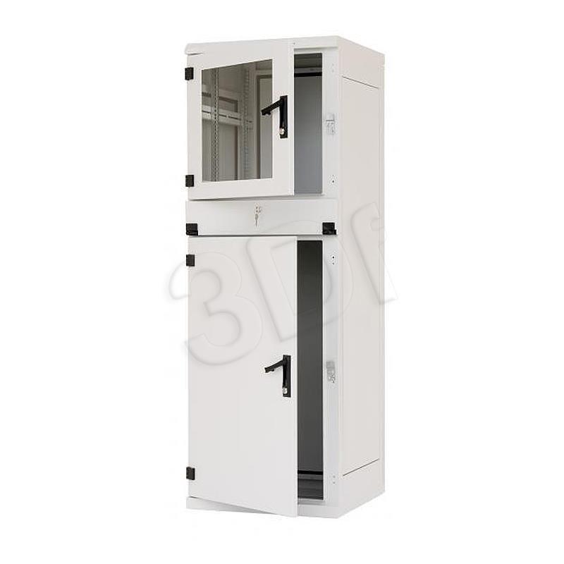Triton Szafa rack 19 przemysłowa stojąca RPE-37-A68-CCX-A1 (37U 600x600mm trzysekcyjna kolor jasnoszary RAL7035 klasa szczelności IP54)