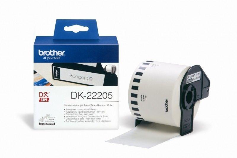 Brother Taśma papierowa DK22205 biała 30,48x62mm ciągła do serii QL