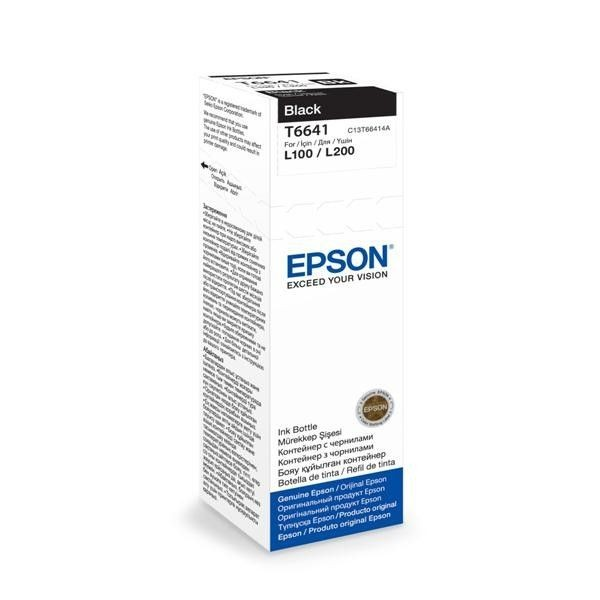 Epson Tusz T6641 Black | 70ml | L100/L200