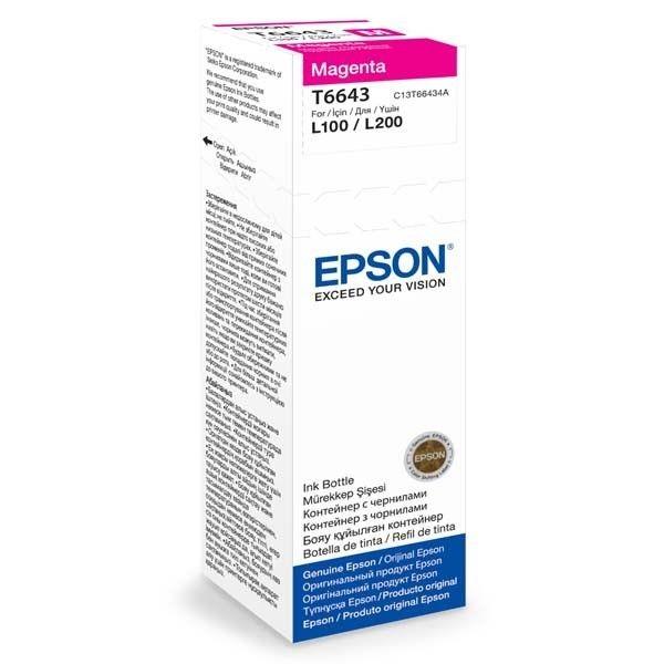 Epson Tusz T6643 Magenta | 70ml | L100/L200