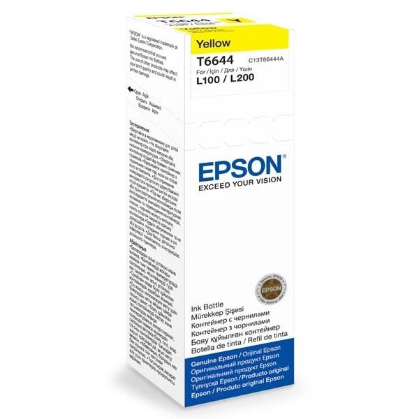 Epson Tusz T6644 Yellow | 70ml | L100/L200/L300/L355