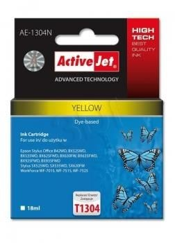 ActiveJet Tusz ActiveJet AE-1304N | Yellow | 18 ml | Epson T1304
