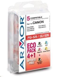 Armor cartridge pro CANON iP 4850 Sada (PGI-525+CLI-526B/C/M/Y)