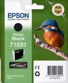 Epson Tusz T1591 Photo Black | 17ml | Stylus Photo R2000