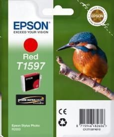 Epson Tusz T1597 Red | 17ml | Stylus Photo R2000