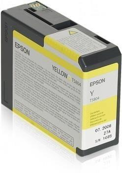 Epson Tusz T5804 Yellow | 80 ml | Stylus Pro 3880