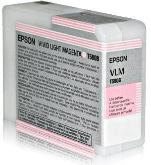 Epson Tusz T580B Vivid Light Magenta | 80 ml | Stylus Pro 3880