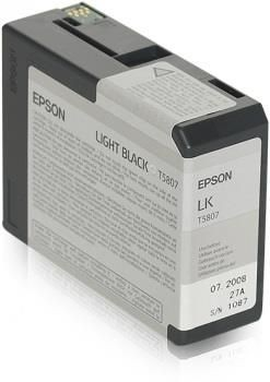 Epson Tusz T5807 light black| 80 ml | Stylus Pro 3880