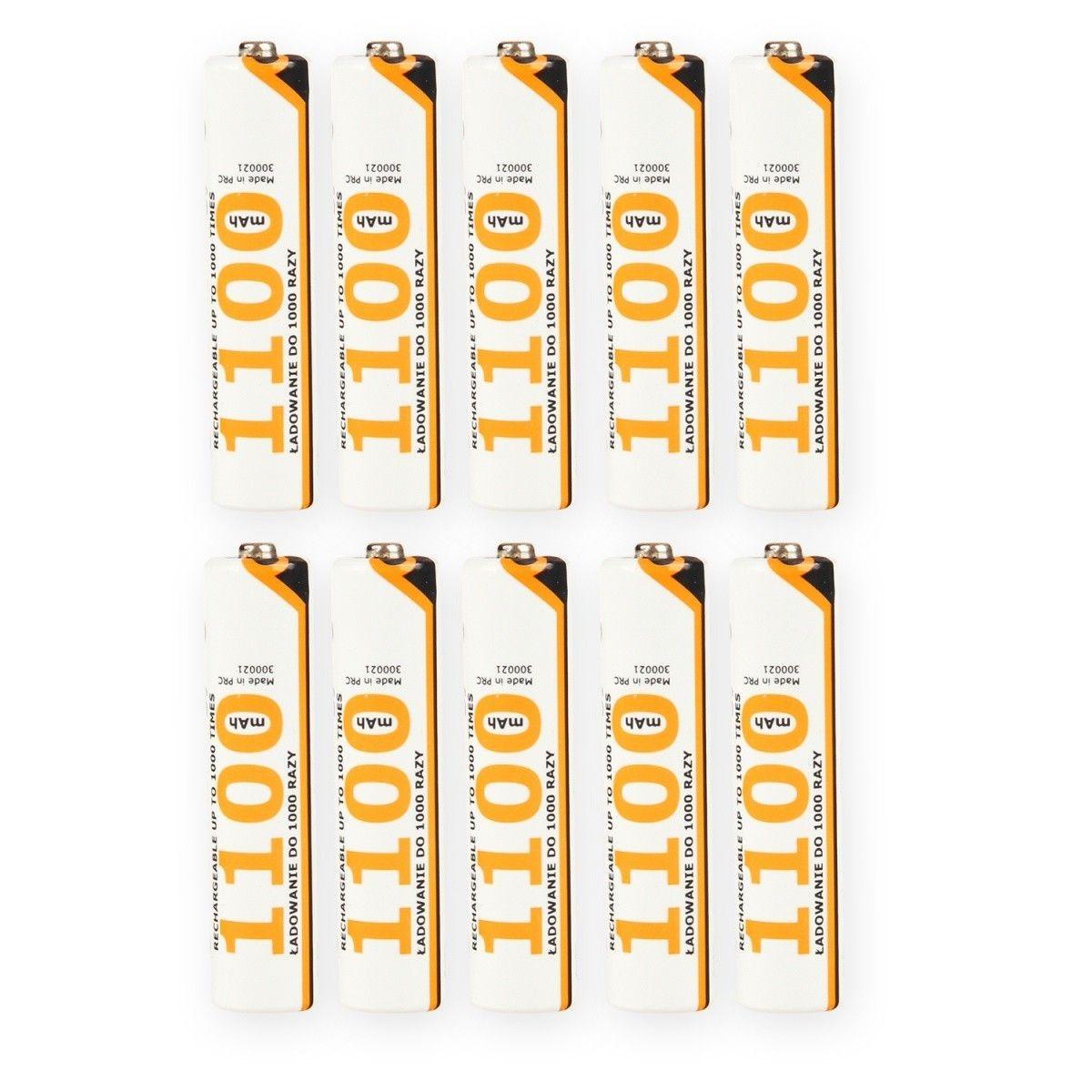 Whitenergy akumulatory AAA/R3 1100mAh 10szt - blister