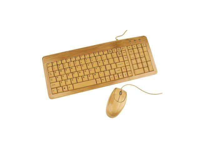 Gembird EnerGenie Bambusowy zestaw klawiatura USB + mysz USB