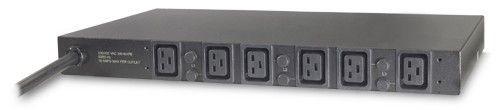 APC Rack PDU, Basic, 1U, 22kW, 230V, (6) C19