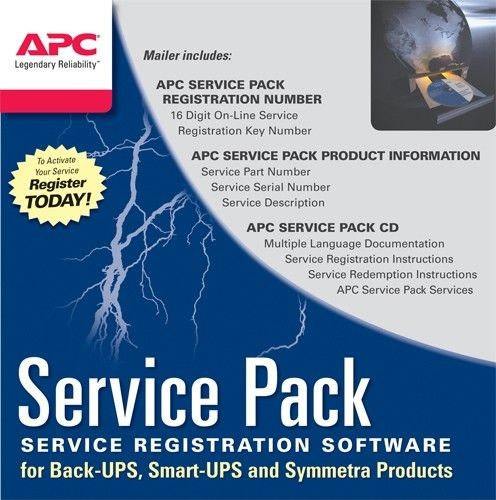 APC Service Pack 1 Year Extended Warranty - Phisical Delivery - SP-02