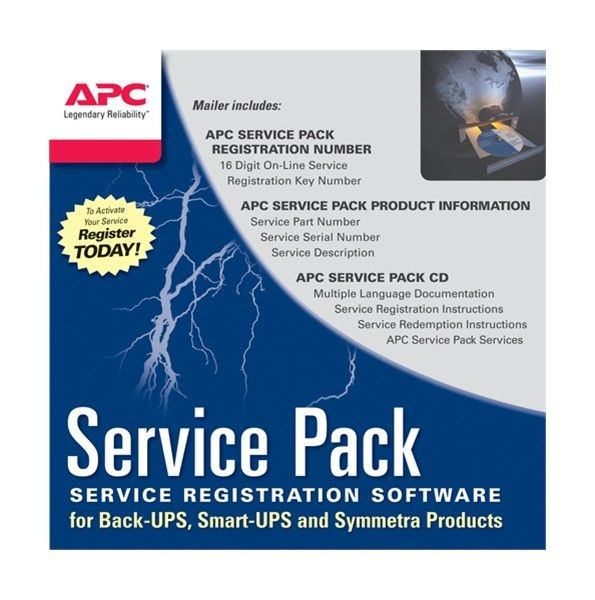 APC Service Pack 3 Year Warranty Extension (for new product purchases, CD) - SP-01