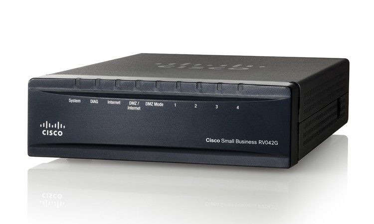 Cisco Systems Cisco RV042G Gigabit 4-port 10/100/1000 VPN Router - Dual WAN