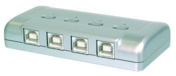 Digitus Przełącznik USB2.0, 4 PC- 1 urządzenie