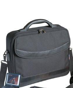Kerry 15,6'', torba, KERRY, 1xkomora+kieszen, polietser 600D, czarna