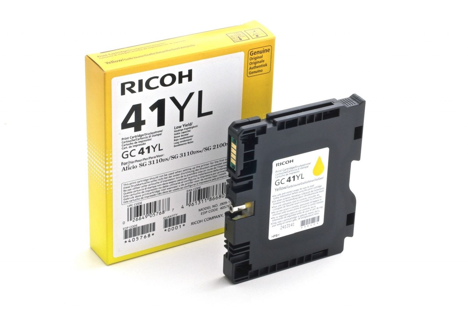Ricoh Print Cartridge GC 41YL
