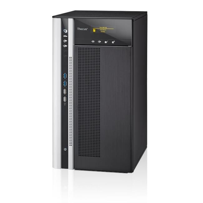 Thecus 10-Bay tower NAS, SATA, 3.1GHz Quad Core, 4GB DDR3, 2x GbE, USB 3.0