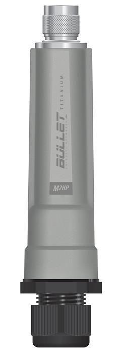 Ubiquiti Networks Ubiquiti Bullet M2-Titanium 2.4GHz Outdoor Radio, 802.11b/g/n,28dBm, PoE, N Male