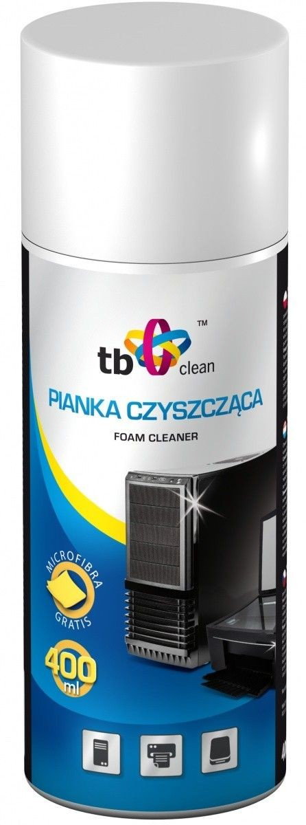 TB Clean Pianka do plastiku i ekranów 400 ml + ściereczka z mikrofibry