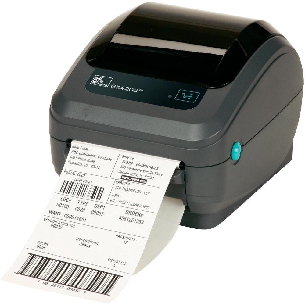Zebra Drukarka etykiet GK420d/termiczna/203dpi/USB/RS-232/LPT rev 2.