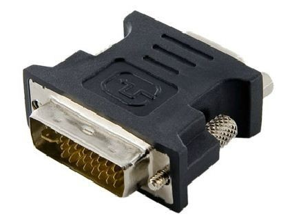 4World Adapter DVI-I [M] (24+5) > VGA [F], czarny