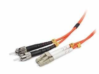 Gembird światłowód krosowy LC-ST duplex mm 50/125 OM2 pomarańczowy 2m