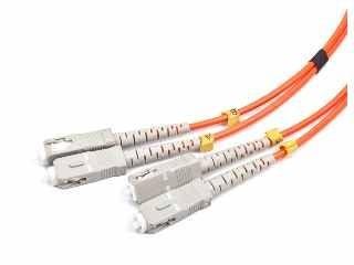 Gembird światłowód krosowy SC-SC duplex mm 50/125 OM2 pomarańczowy 1m