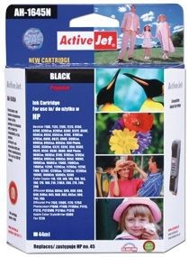 ActiveJet Tusz ActiveJet AH-45N | Black | 44 ml | HP 51645A HP 45