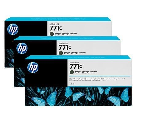 HP Tusz HP Designjet 771C mate black | 775 ml | 3 pojemniki