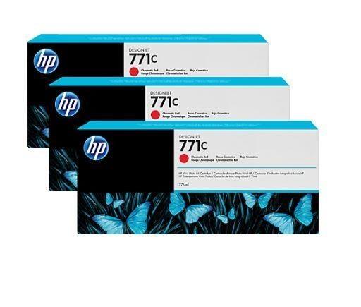 HP Tusz HP Designjet 771C red | 775 ml | 3 pojemniki