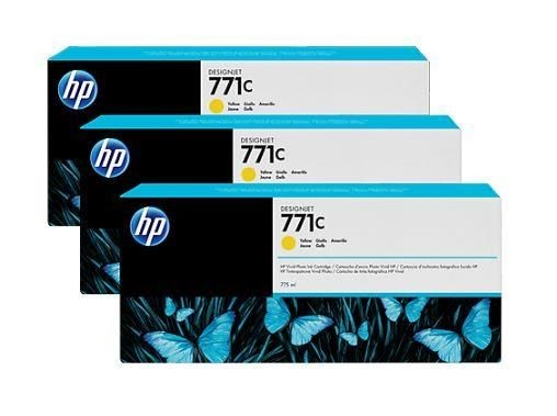 HP Tusz HP Designjet 771C yellow | 775 ml | 3 pojemniki