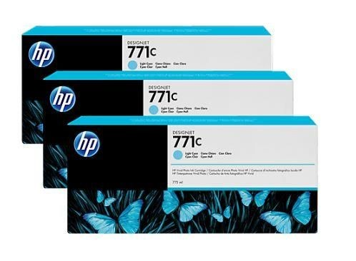 HP Tusz HP Designjet 771C light cyan | 775 ml | 3 pojemniki
