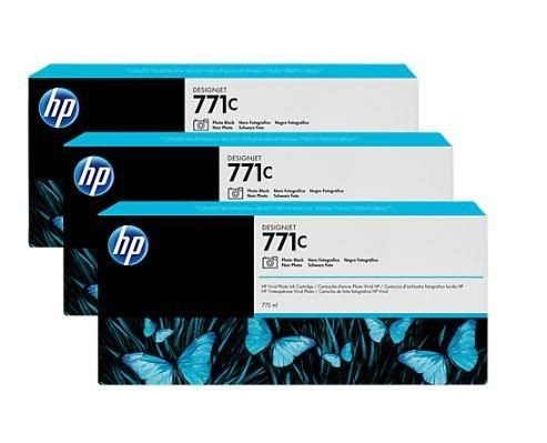 HP Tusz HP Designjet 771C photo black | 775 ml | 3 pojemniki
