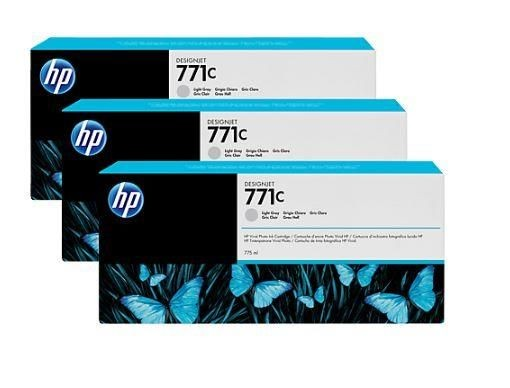 HP Tusz HP Designjet 771C light gray | 775 ml | 3 pojemniki