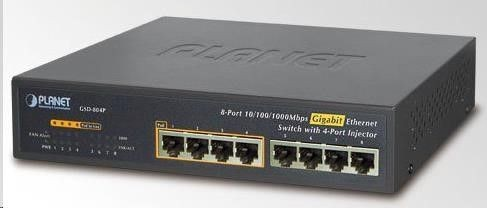 Planet GSD-804P SWITCH 8port 100/1000 + 4porty POE