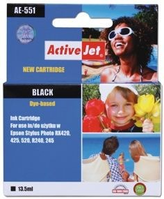 ActiveJet Tusz ActiveJet AE-551 | Black | 13,5 ml | Chip | Epson T0551